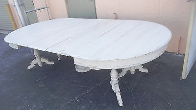Antique Hand Painted French Style Large 10 Seater Dining Table
