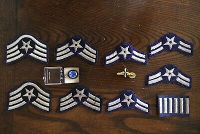 COLLECTIBLES MILITARY AIR Force Ranks  plus airforce pins and pendant