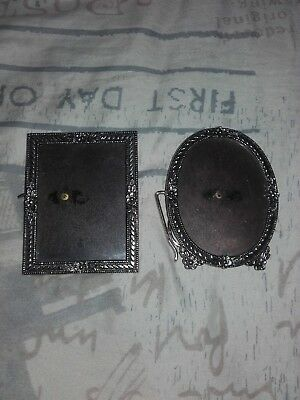 Vintage Ornate silver photo frames - marco de fotos lote de 2