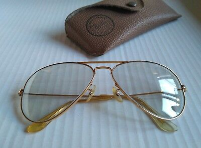 8f13f55e5c RAY BAN VINTAGE B&L AVIATOR Changeable Lens. Gold 58-14. USA. Con ...