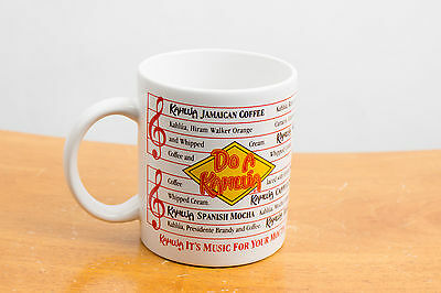 Kahlua Coffee Liqueur Recipe Drinks Tea Mug Cup - Music For Your Mouth