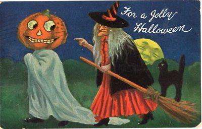 "Bernhardt Wall, Valentine & Sons, Artotype, ""for A Jolly Halloween"", Witch Jol"