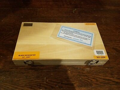 "SHARS PRECISION 2-3 INCH BLADE OUTSIDE MICROMETER .0001"" New In box Original"