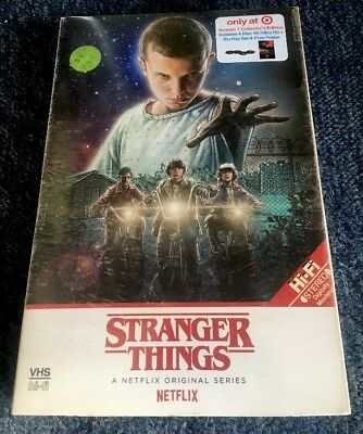 Stranger Things Season 1 VHS Packaging 4K UHD + Blu-Ray (4 Discs) NEW & Sealed