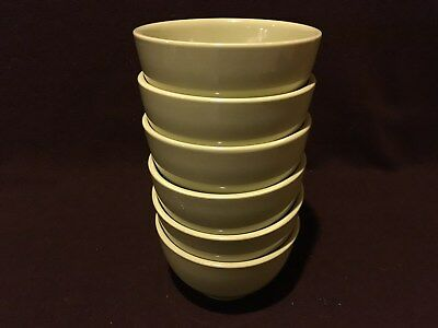 IKEA Stoneware Cereal/Soup BowlsGreen 219-63 Very Good Condition Set of six