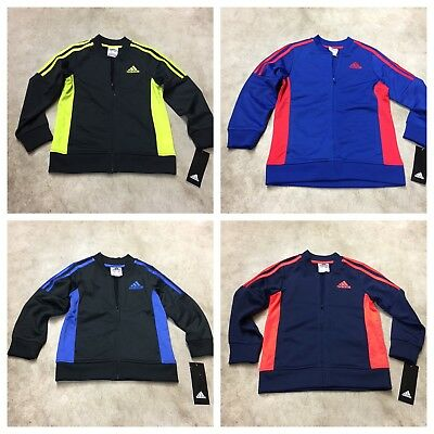 boys childrens adidas track jacket coat striped all colors and sizes 09-18