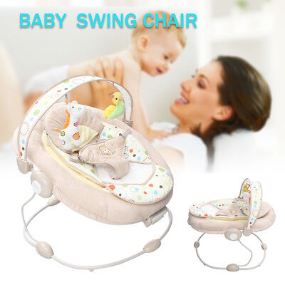 Baby Swing Cradling Rocking Chair Musical Vibration Seat Rocker Shaker Play Toy