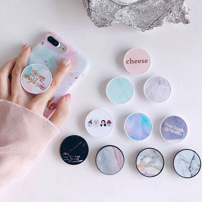 Marble Universal Pop Up Phone Holder Expanding Stand Hand Grip iPhone Samsung LG