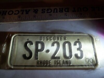 1970 Rhode Island Cereal box license plate SP 203