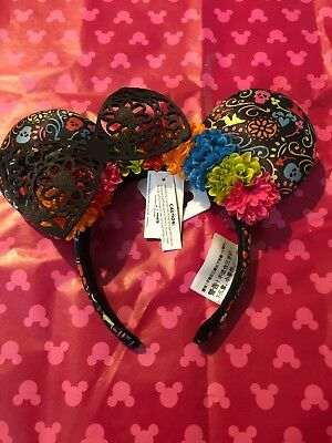 Disney Parks & Pixar Dia de los Muertos Coco Minnie Mouse Ears Headband ADULT