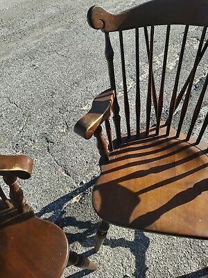 Antique early American Captains dining room chairs