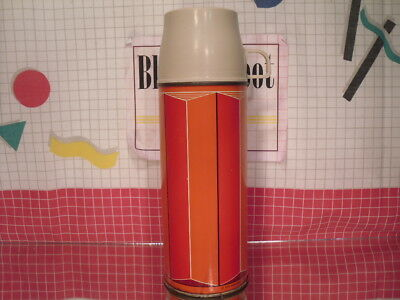 Metal Thermos King Seeley 1 Pint Red 1974 Vintage