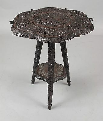 original very interesting finely carved Indian table. Circa 1900/20