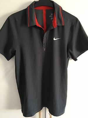 Nike Tennis Roger Federer US Open 2011  Dri-Fit Polo Shirt Size L Very Rare!!!