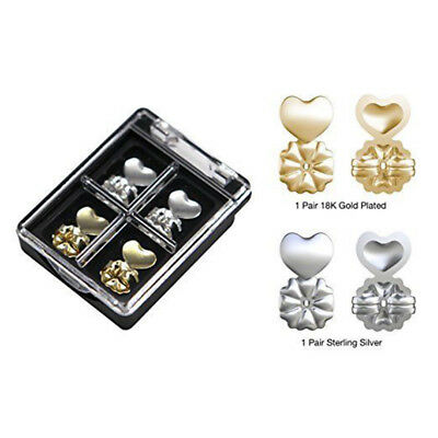 2 Pairs Magic Earring Backs Support Earring Lifts Fits all Post Earrings Set