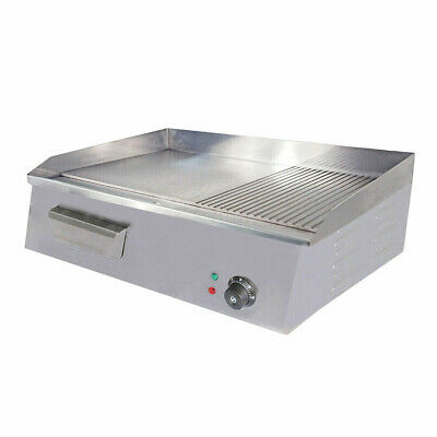 New Double Multi(FLAT/RIBBED) Commercial Electric Griddle 54CM 8/10