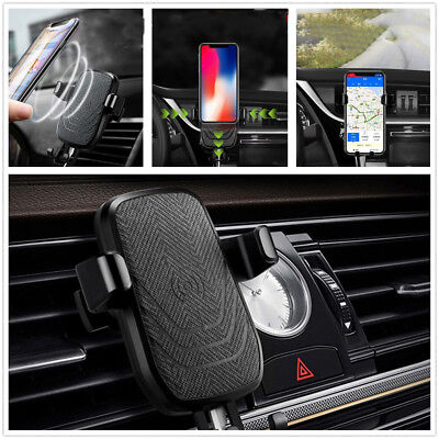 1X10W Fast Wireless QI Car Charger Holder For iPhone X 8 Plus Samsung Note8