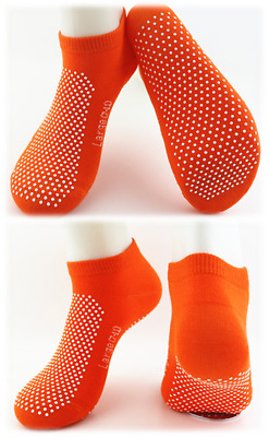 6 Pairs Yoga Non Slip Grip Socks -Yoga Pilates Fitness Safety - Physio Approved