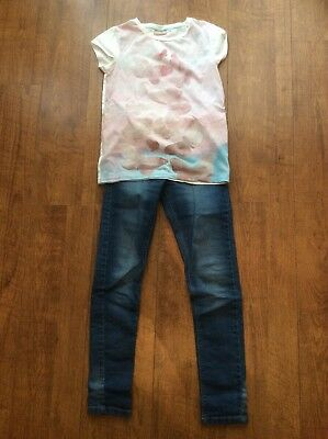 Girls Age 10 Skinny Jeans And T Shirt Outfit From Next