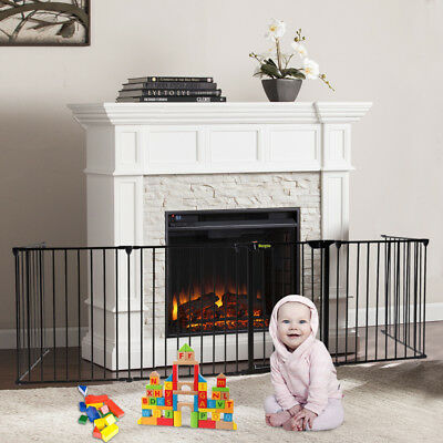 Fireplace Fence Baby Safety Fence Hearth Gate Pet Fire Gate No-need Install