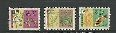 1962 North Vietnam Vegtables Part set 3  Used sold as per scans