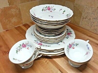 Wawel Sheraton Rose 5 Piece Place Setting Service For 4; 20 Pieces; 128; Poland.