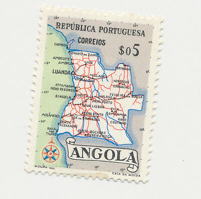 Joblot Old Postage Stamps    Angola   Coloured Map 1955     AP005
