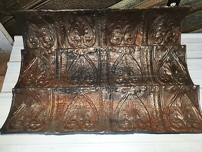 "3pc Lot of 45"" by 11"" Antique Ceiling Tin Vintage Reclaimed Salvage Art Craft"