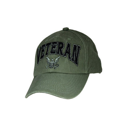 8879d1cd081 US NAVY EMBROIDERED Ball Cap Low Profile Hat Vet Olive Drab USN ...
