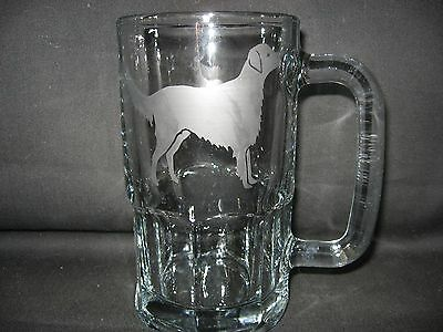 New Etched Flat-Coated Retriever Glass Root Beer Mug