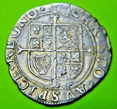 Charles 1St Tower Mint Silver Shilling ,mm  Anchor 1638-1639