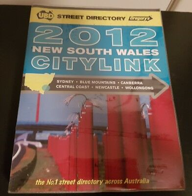 2012 UBD New South Wales Citylink Sydney Street directory