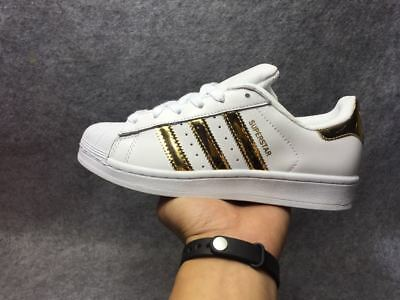 Adidas Superstar White/Gold Donna