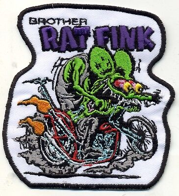 Hot Rod Patch BROTHER RAT FINK Badge Drag race Ed Big Daddy Roth Motorcycle