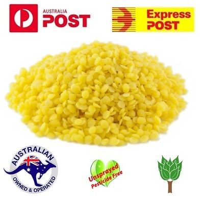 Pure Golden Beeswax Pellets Drops Candle Food Wrap Bees Wax Aussie Seller