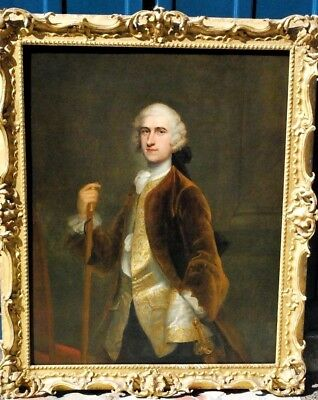 18th Century  Amazing  Portrait Of The  Lord English Oil Painting Large