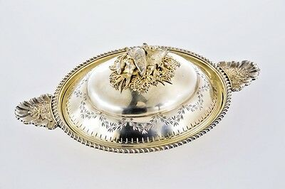 Amazing Large 18th C Imperial Russian Silver Fish Dish Moscow 1767