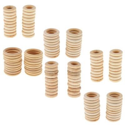 20Pcs DIY Handmade Jewelry Accessories Wooden Ring Necklaces Bags Pendants