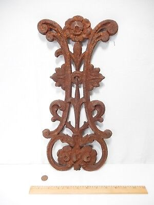 """Antique-Vintage Decorative Rusted Cast Iron Double-Faced Panel.  16 3/4"""""""