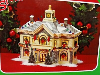 new dept 56 christmas story village hammond town hall building retired rare gift