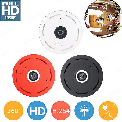 Mini 360 Degree 1080P HD Wifi Panoramic IP Hidden Camera Two Way Audio Infrared