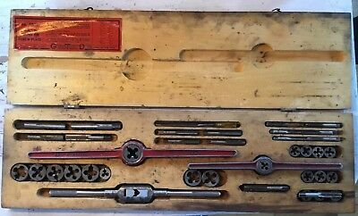 "Greenfield Tap And Die Set Vintage Antique "" OK"" Jr. Round Die Screw Plate"
