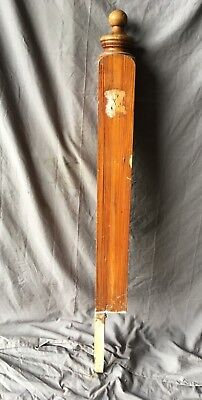 Antique Decorative Pine Newel Post 53X5 Old Vintage Turn Top Staircase 175-18C