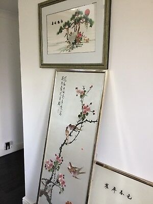 Chinese Silk Embroidered Prints