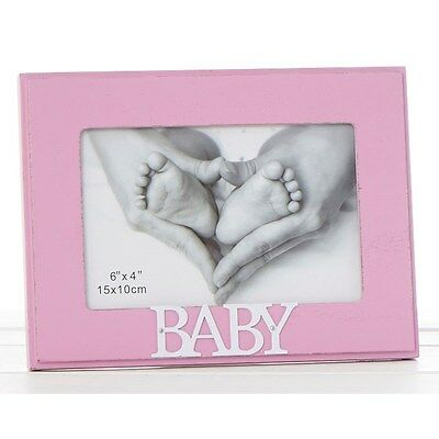 Pink Words Frame 6x4 Baby Girl memories picture photo frame gift present