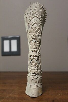 Hand carved intricate detail bovine bone totem One of a Kind!