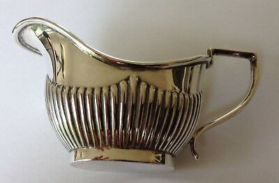 Beautiful Delicate William Devonport Sterling Silver Creamer Milk Jug 1910