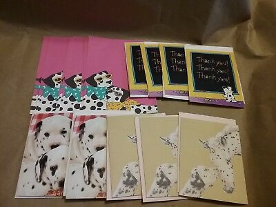 """Dalmatians Lot of """"Cool Dogs"""" Stationery and Note Cards with Envelopes"""