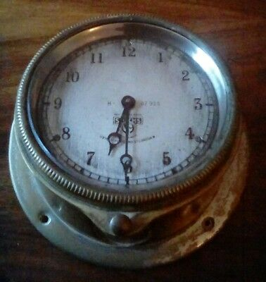 """Vintage Smiths car clock 3.5"""" Silver Face Very Rare includes mounting"""