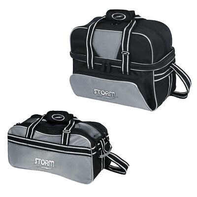 Bowling Ball Tasche Storm Double Tote Silver, Plus für Bowlingschuhe